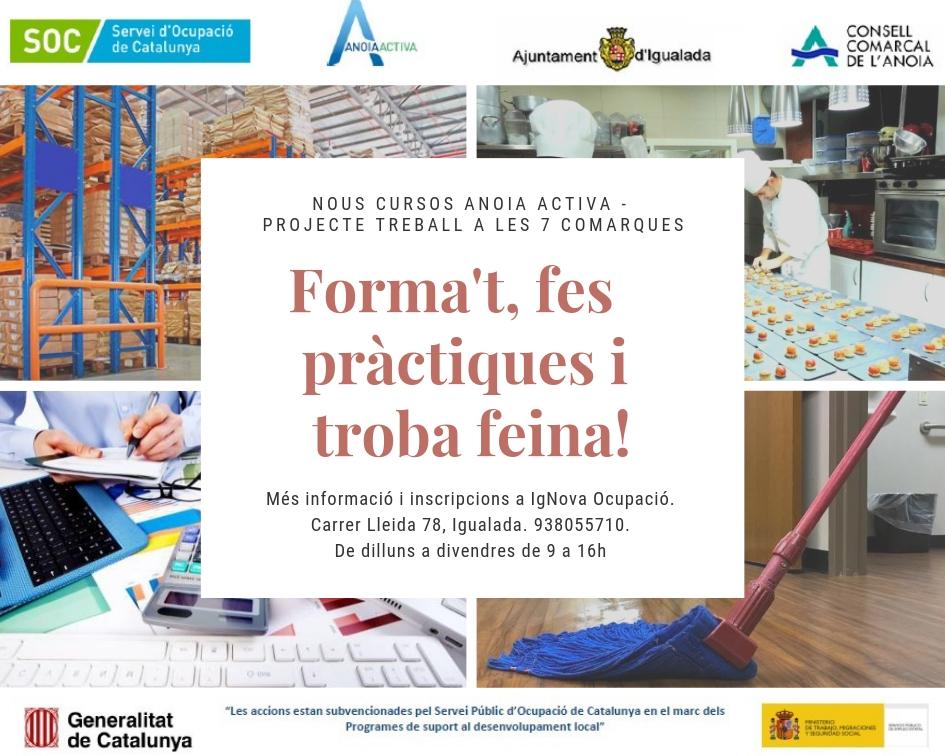L'Ajuntament D'Igualada Ofereix Quatre Nous Cursos De Formació Ocupacional