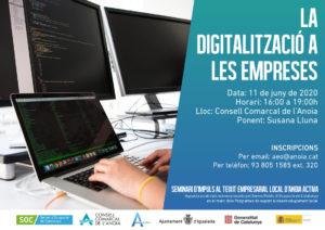 La digitalització a les empreses, seminari d'Anoia Activa